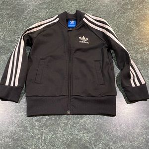 Adidas Black & White Track Jacket Youth Size Small